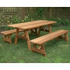 "Cedar 27"" Wide Classic Family Picnic Table Set"