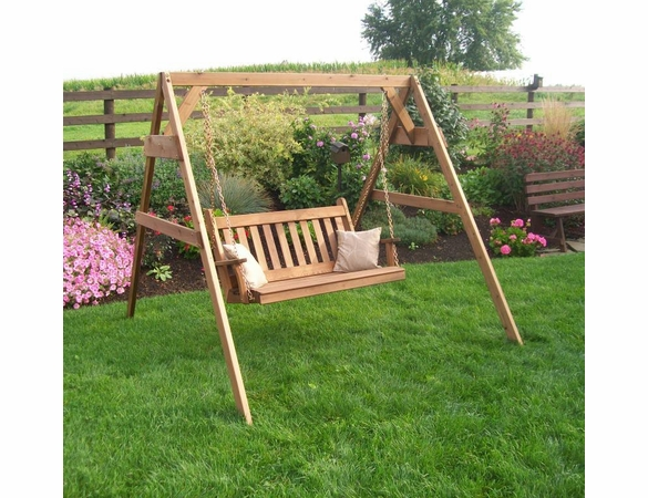 Cedar A-Frame Swing Stand with Hanging Hardware