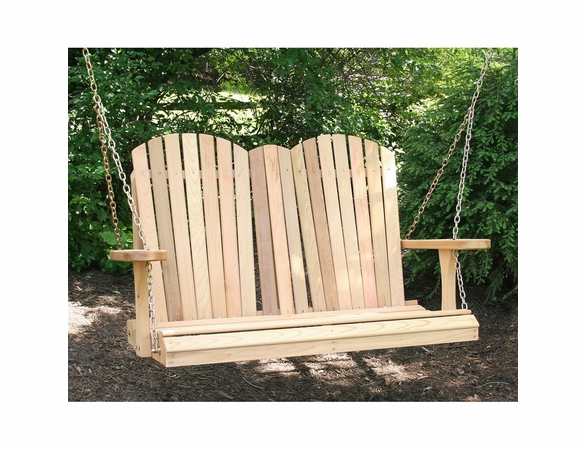 Cedar Adirondack Chair Style Porch Swing