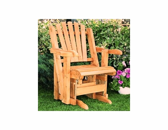 Cedar Adirondack Glider Chair - Not Currently Available