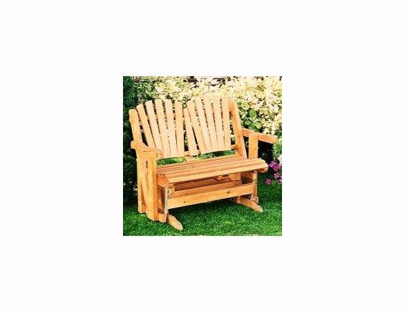 Cedar Adirondack Loveseat Glider - Not Currently Available