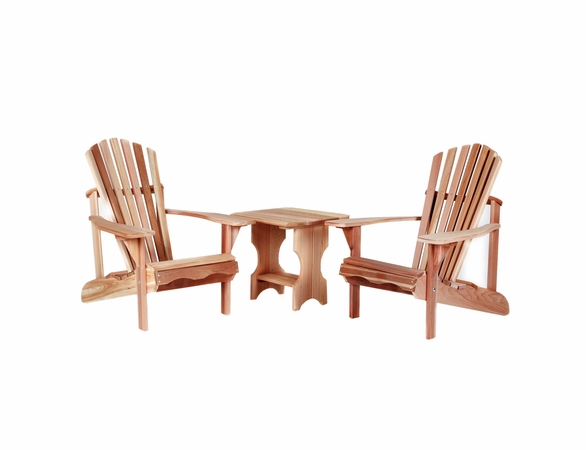 Cedar Adirondack Amp Side Table Set Kit