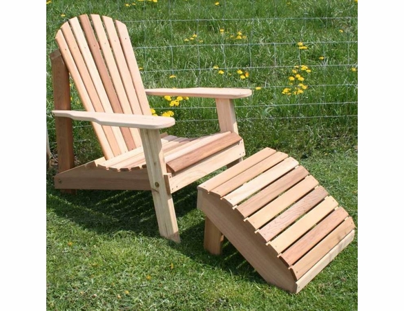 Cedar American Forest Adirondack Chair and Footrest Set