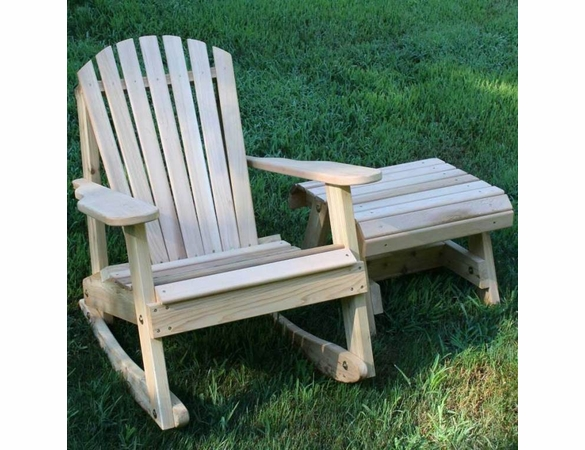 Cedar American Forest Adirondack Rocker and Side Table