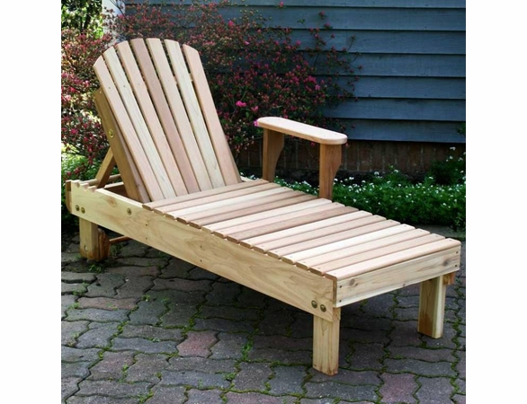 Cedar American Forest Chaise Lounge - Extra May Only Discount