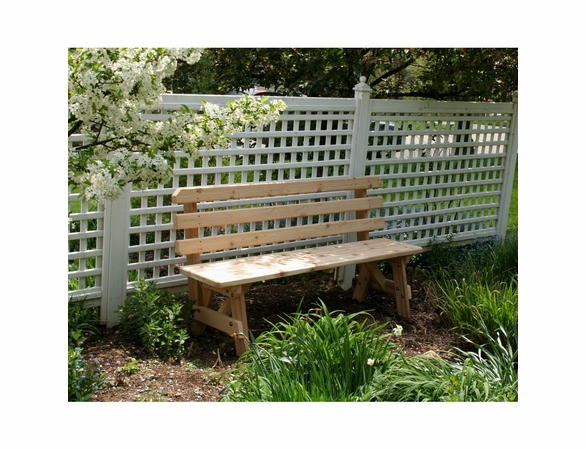 Cedar Backed Bench - Extra May Only Discount