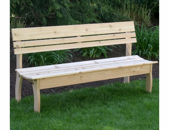 Cedar Chickadee Backed Bench