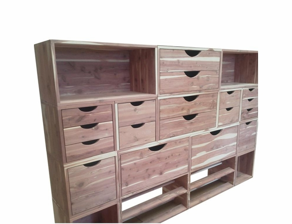 Cedar Closet Organizer:  16 Pc Stackable Closet System - Exclusive Item