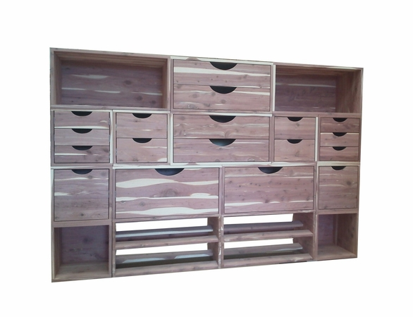 Cedar Closet Organizer:  16 Pc Stackable Closet System - Exclusive Item - Not Currently Available