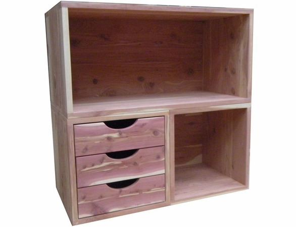Cedar Closet Organizer:  3 Pc Stackable Closet System - Exclusive Item