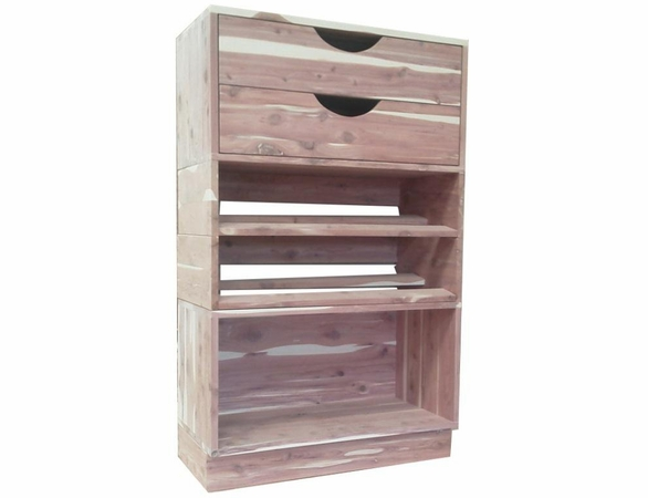 Cedar Closet Organizer:  4 Pc Open Stackable Closet System - Exclusive Item