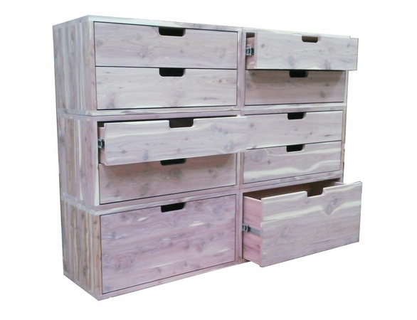 Cedar Closet Organizer:  6 Pc Stackable Drawer System - Exclusive Item