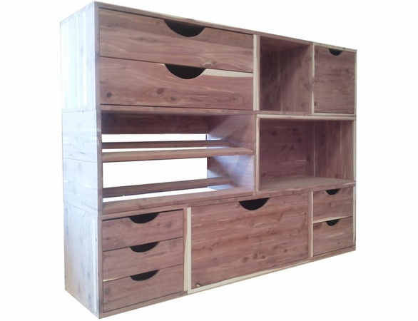 Cedar Closet Organizer:  8 Pc Stackable Closet System - Exclusive Item - Not Currently Available