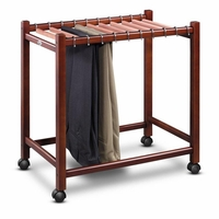 Cedar Compact Pant Trolley with 10 Pant Rods