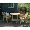 Cedar Country Hearts Bistro Set