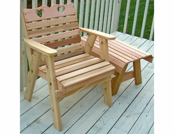 Cedar Country Hearts Patio Chair - Extra May Only Discount