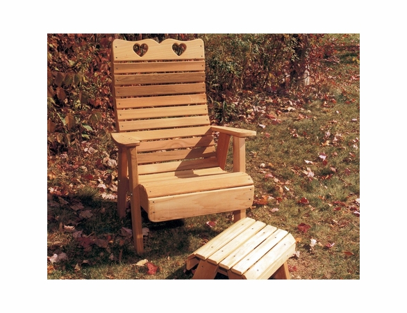 Cedar Country Hearts Patio Chair (Optional Footrest)