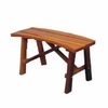 Cedar Curved Backless Bench Pair (Price for 2) - Available to ship in Nov/Dec