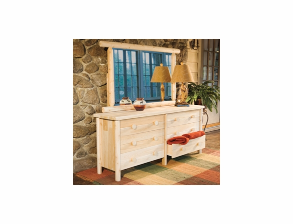 Cedar Dresser Mirror Combination Options - Not Currently Available