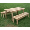 Cedar Family Dining Set with Benches