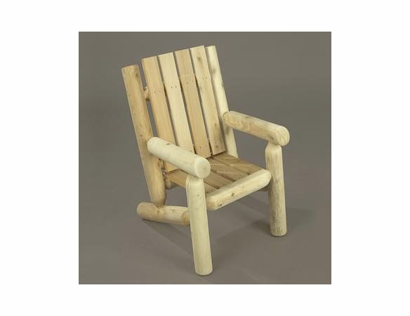 Cedar Log Style Child's Lounge Chair - Not Currently Available
