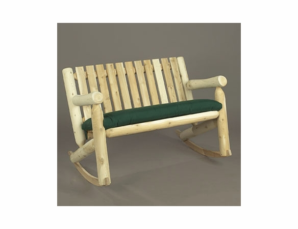 Cedar Log Style Double Rocking Chair - Not Currently Available