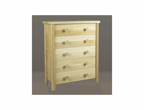 Cedar Log Style Five Drawer Dresser - Not Currently Available