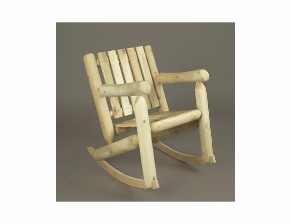 Cedar Log Style Low Back Rocking Chair - Not Currently Available