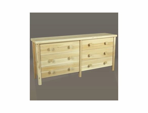 Cedar Log Style Six Drawer Dresser - Not Currently Available