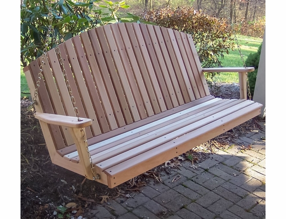 Cedar Mountaintop Fanback Porch Swing