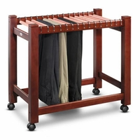 Cedar Pant Trolley with 15 Pant Rods