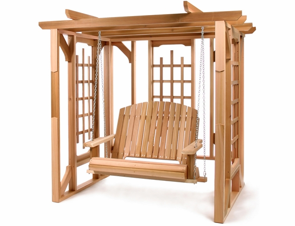 Cedar Pergola Swing Set Kit - Available to Ship End of May