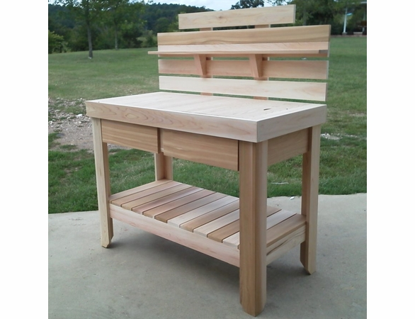 Cedar Potting Table with Drawers - Not currently Available