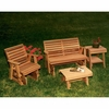 Cedar Rocking Classic Gliders & Tables Set - Extra May Only Discount