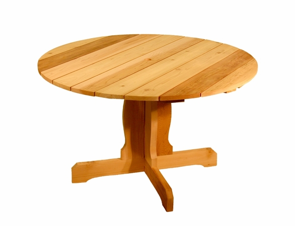 Cedar Round Pedistal Dining Table