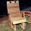 Cedar Royal Country Hearts Glider Chair - Extra May Only Discount