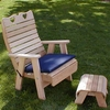 Cedar Royal Country Hearts Patio Chair and Footrest Set