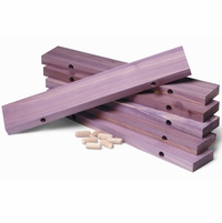 Cedar Shoe Rack Extenders, Set of 6