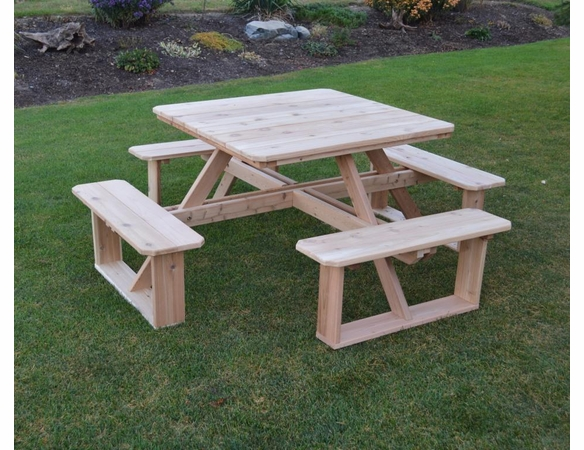 Cedar Square Walk-in Picnic Table