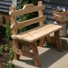 Cedar Tab Back Bench - Extra May Only Discount