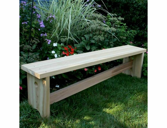 Cedar Traditional Bench with Slant Brace