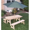 Cedar Traditional Picnic Table & Bench Set