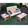 Cedar Twin Ponds Bench Set