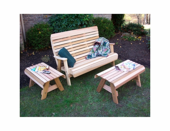 Cedar Twin Ponds Bench Set - Extra May Only Discount