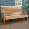 Cedar Twin Ponds Highback Garden Bench