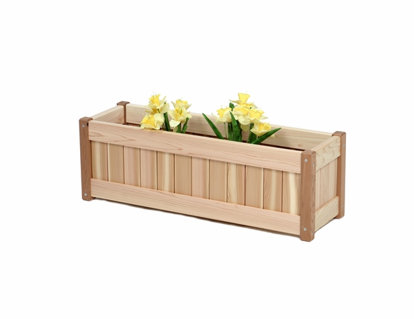 Western Red Cedar Window Box Or Deck Planter Box Kit