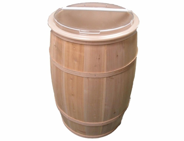Cedar Wood Hollow Full Size Barrel with Food Safe Liner