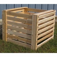 Cedar Wood Slatted Compose Bin