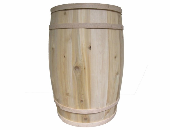 Cedar Wood Wood Extra Large Half Barrel