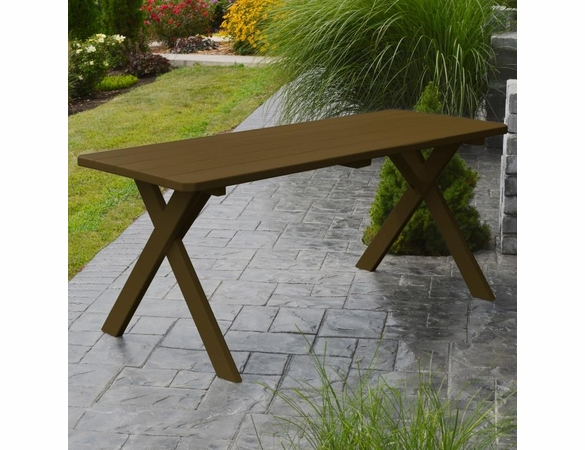 Cross-legged Table Only 4', 5', 6', or 8'<br>(Available in Cedar or Pine)